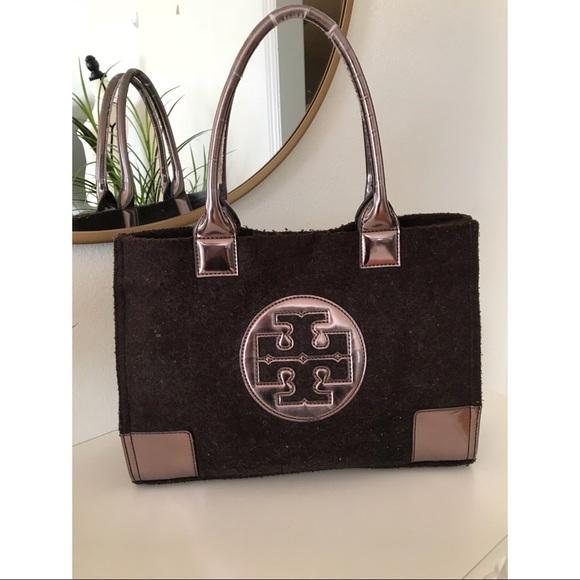 3bf3fbffdadc Tory Burch Ella Bronze Wool Tote bag. M 5c621ecb2e14785b297ce6cb
